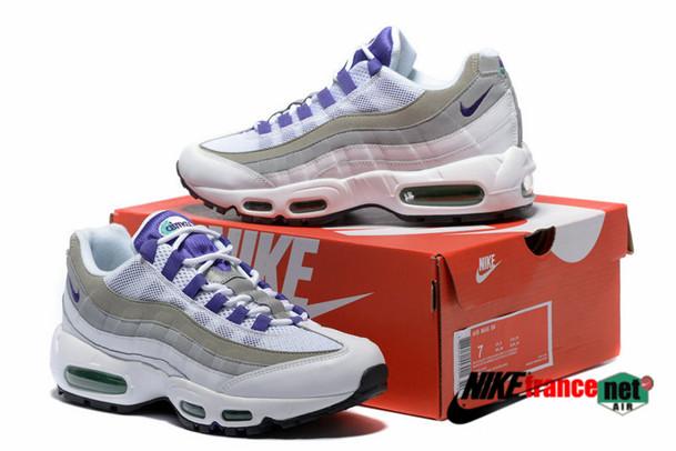 best loved 59e3e 33900 air max 95 femme soldes gris et violet.